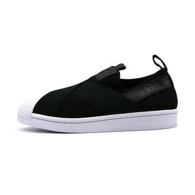 ADIDAS SUPERSTAR SLIP ON 繃帶鞋 女休閒鞋-黑-FW7051