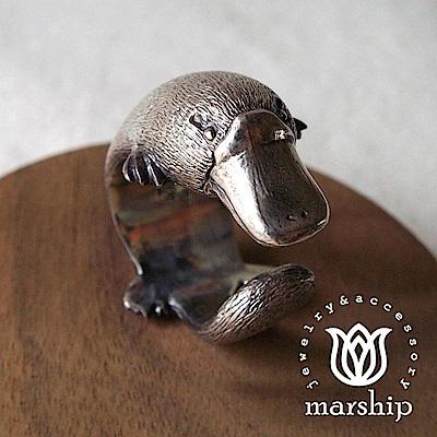 Marship 日本銀飾品牌 鴨嘴獸戒指 925純銀 古董銀款