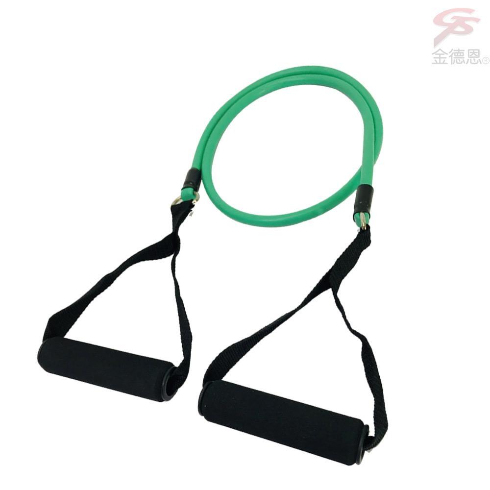 金德恩 台灣製造 健美王之臂力訓練單管彈性瑜珈阻力拉繩/顏色隨機/雕塑/拉力繩