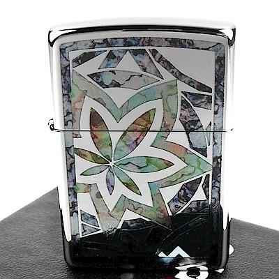ZIPPO 美系~Fusion Leaf-幾何葉片圖案設計打火機