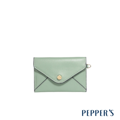 PEPPER S Doris 牛皮信封卡片包 - 蘇打綠