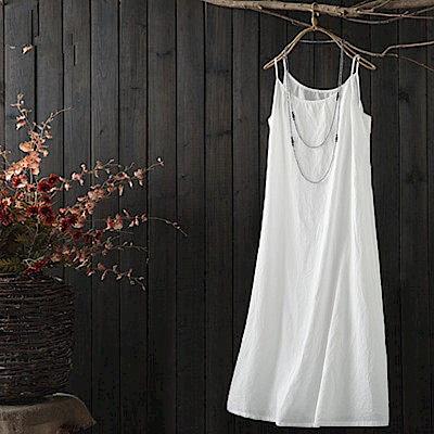 長版純棉吊帶內搭內搭洋裝/設計所在Q1646