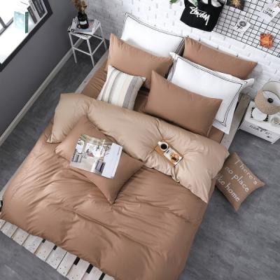 OLIVIA  咖啡X可可米 特大雙人床包被套四件組 200織精梳純棉 台灣製