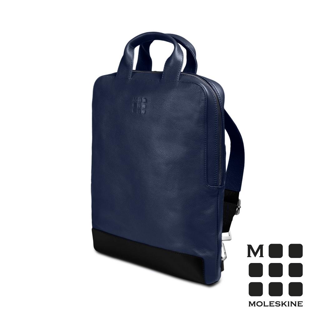 MOLESKINE 經典皮革直式裝備包-寶藍