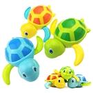 JoyNa【3隻入】兒童戲水玩具 浴室洗澡小烏龜發條玩具