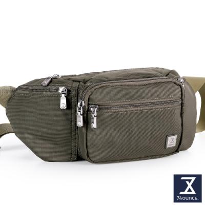 74盎司 尼龍運動腰胸包(6層)[G-1051-SW-M]綠