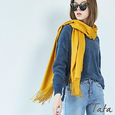單面絨毛圍巾 共三色 TATA