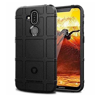 PKG Nokia 8.<b>1</b> 保護殼套-抗震防摔-高規防護盾-黑