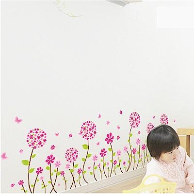 半島良品 DIY無痕壁貼-潘朵拉花牆 LC7017  50x70cm
