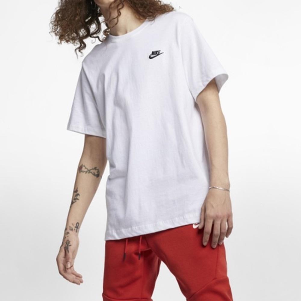 Nike NSW CLUB TEE 男短袖上衣 白-AR4999101