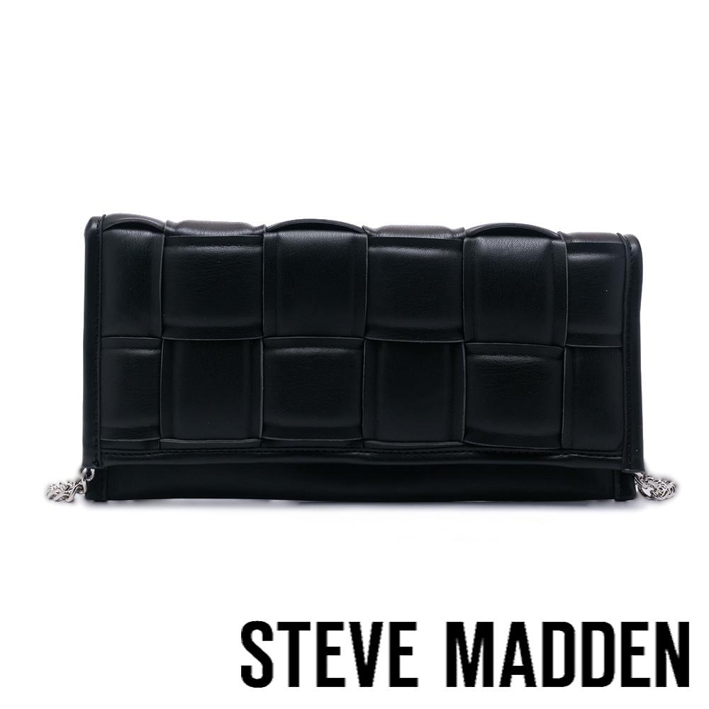 STEVE MADDEN-BTANGLED 編織方格長夾包-黑色