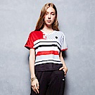 FILA 女款短袖V領T恤-黑 5TET-1484-BK