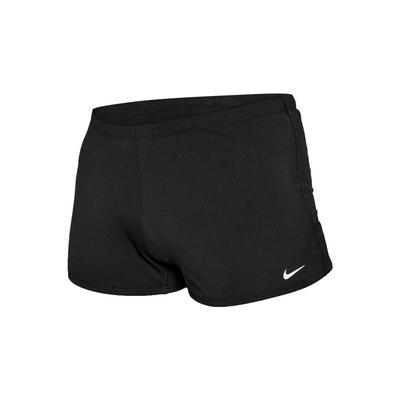 NIKE SWIM 男成人四角泳褲-泳裝 游泳 戲水 平口泳褲 NESSA002-001 黑白