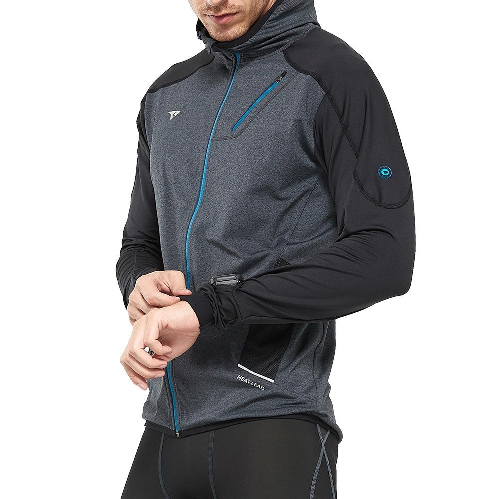 SUPERACE 內刷毛保暖層跑步外套2.0版 / 男款 / 黑色