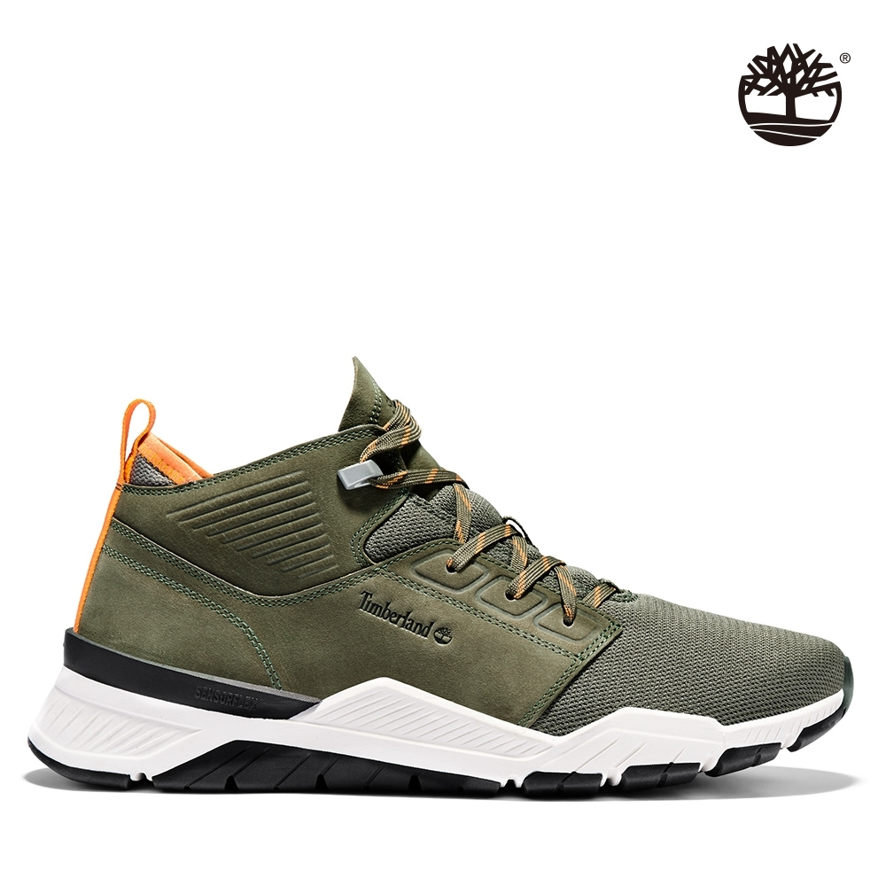 Timberland 男款深綠色網面運動鞋|A2BRJ