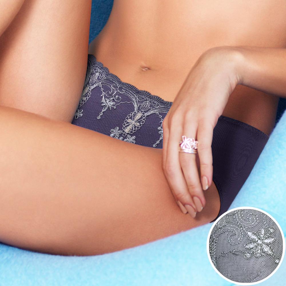 黛安芬-自然美型E+大女人系列天絲棉高腰內褲 L-EEL 灰