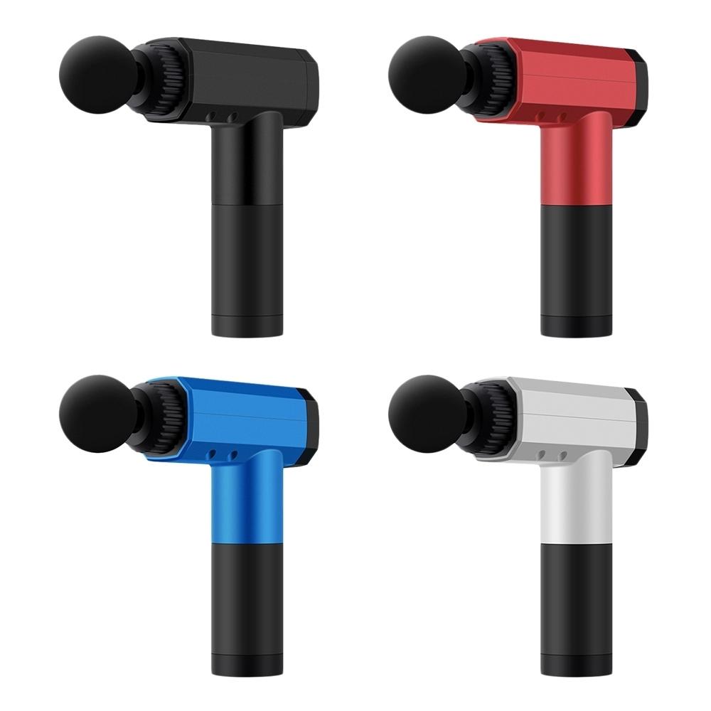工業風 數位觸控 USB深層震動按摩槍 (LED數字顯示檔位/電量)