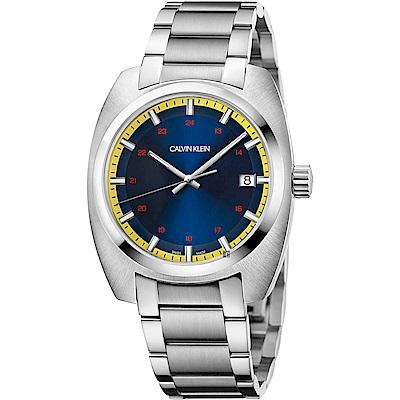Calvin Klein CK Achieve 雅仕手錶-藍x銀/44mm