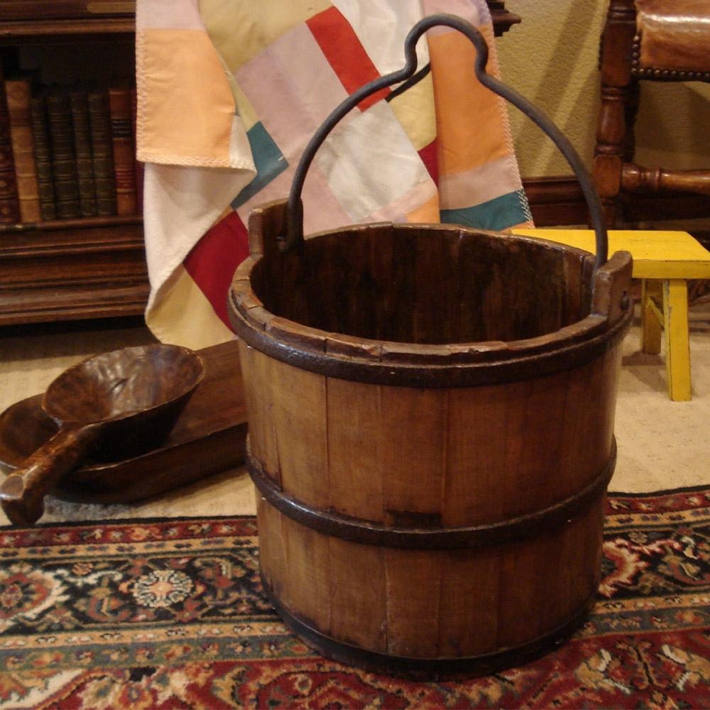 E-home Byron拜倫經典復古實木水桶