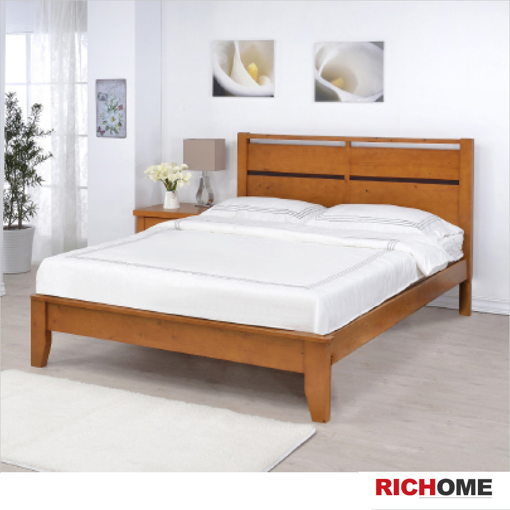 RICHOME 艾得雙人床(不含床墊)