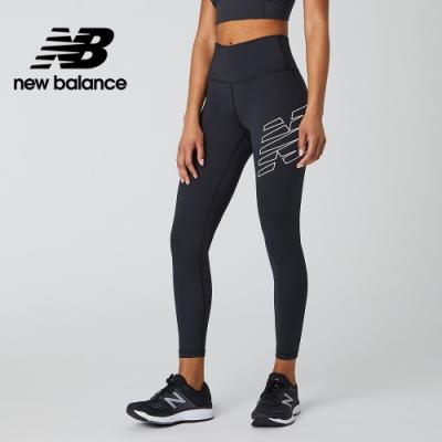 【New Balance】NB DRY X Logo緊身褲_女性_黑色_AWP01111BK