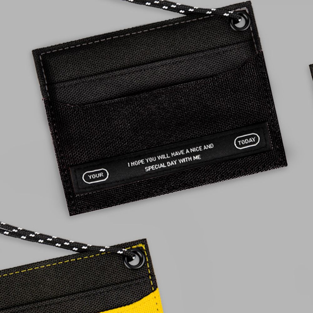 BNTP Today 個性色塊票卡夾-個性黑