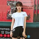 【狐狸姬】奧汀後叉三件式運動衣瑜珈服路跑衣(白M-2XL)