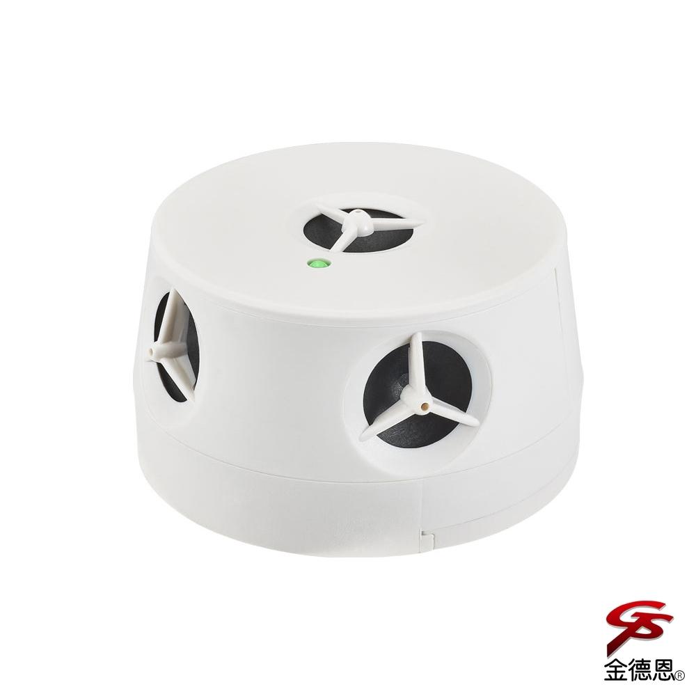 金德恩 台灣製造 電池式環繞喇叭變頻超音波物理驅逐驅鼠器/驅蟲/五個喇叭
