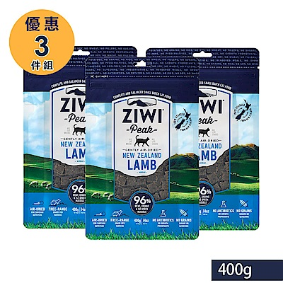 ZiwiPeak 巔峰 96%鮮肉貓糧 羊肉 400G 3件組
