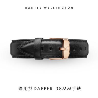DW 錶帶 19mm金扣 爵士黑真皮皮革錶帶
