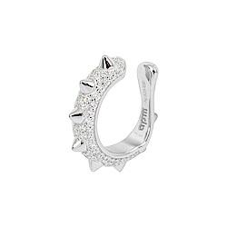 apm MONACO法國精品珠寶 閃耀銀色鑲鋯 Hérisson耳骨夾耳環