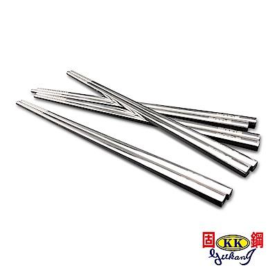 固鋼頂級316不鏽鋼止滑方筷(4雙)(快)