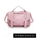 RABEANCO Modern現代美學系列雙飾帶包(小) 粉紅奶