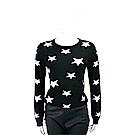 MARELLA 星星圖騰黑色針織羊毛衫
