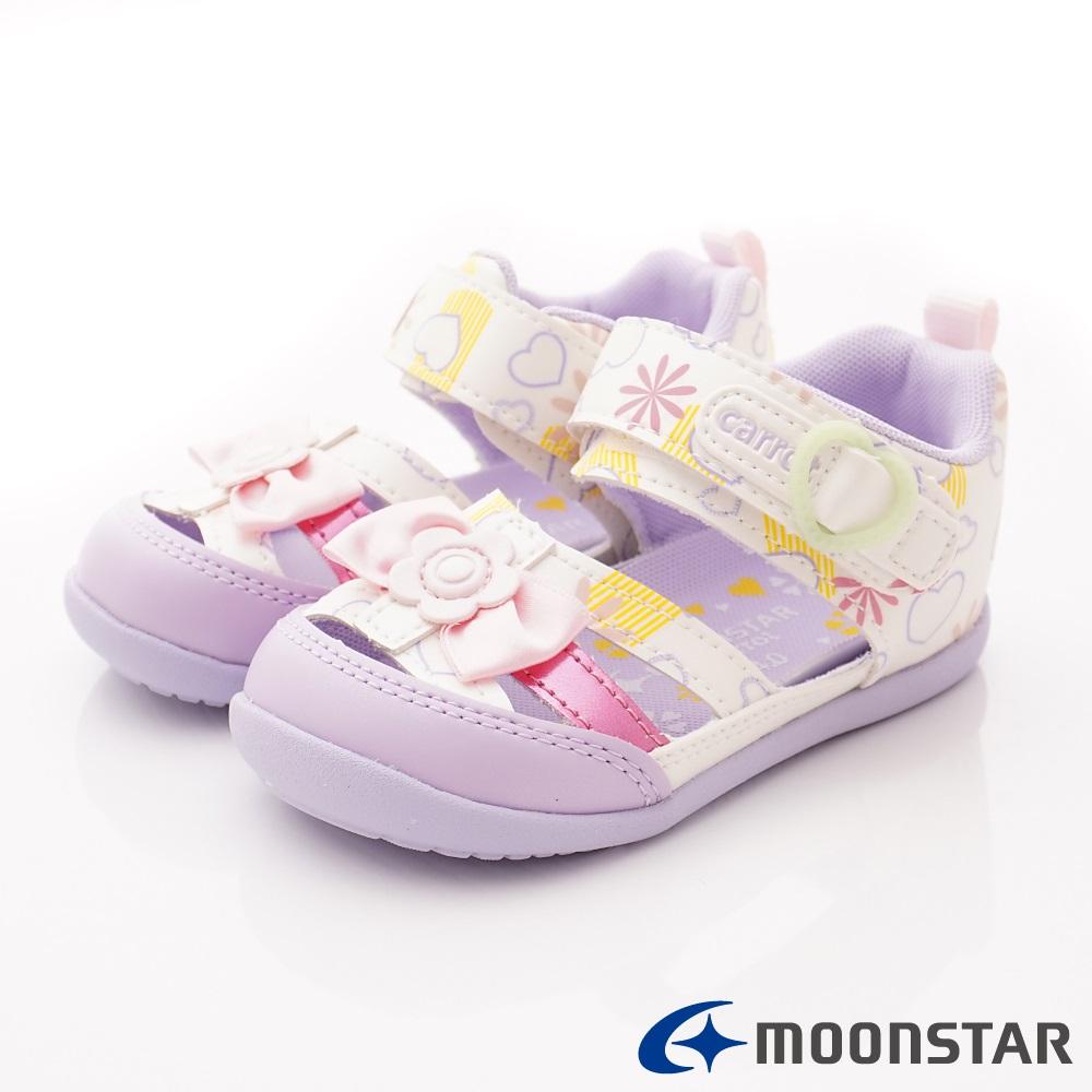 日本Carrot機能童鞋 護趾涼鞋款 BON131白(寶寶段)