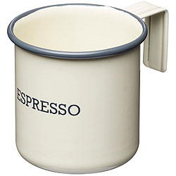 《KitchenCraft》復古琺瑯濃縮咖啡杯(奶油黃75ml)