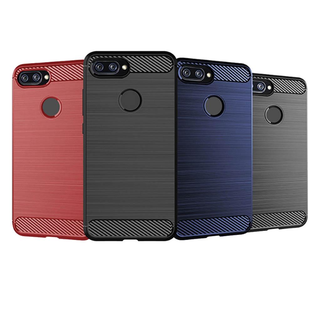 防摔專家 小米8 Lite 防摔抗撞拉絲紋手機保護軟殼 product image 1