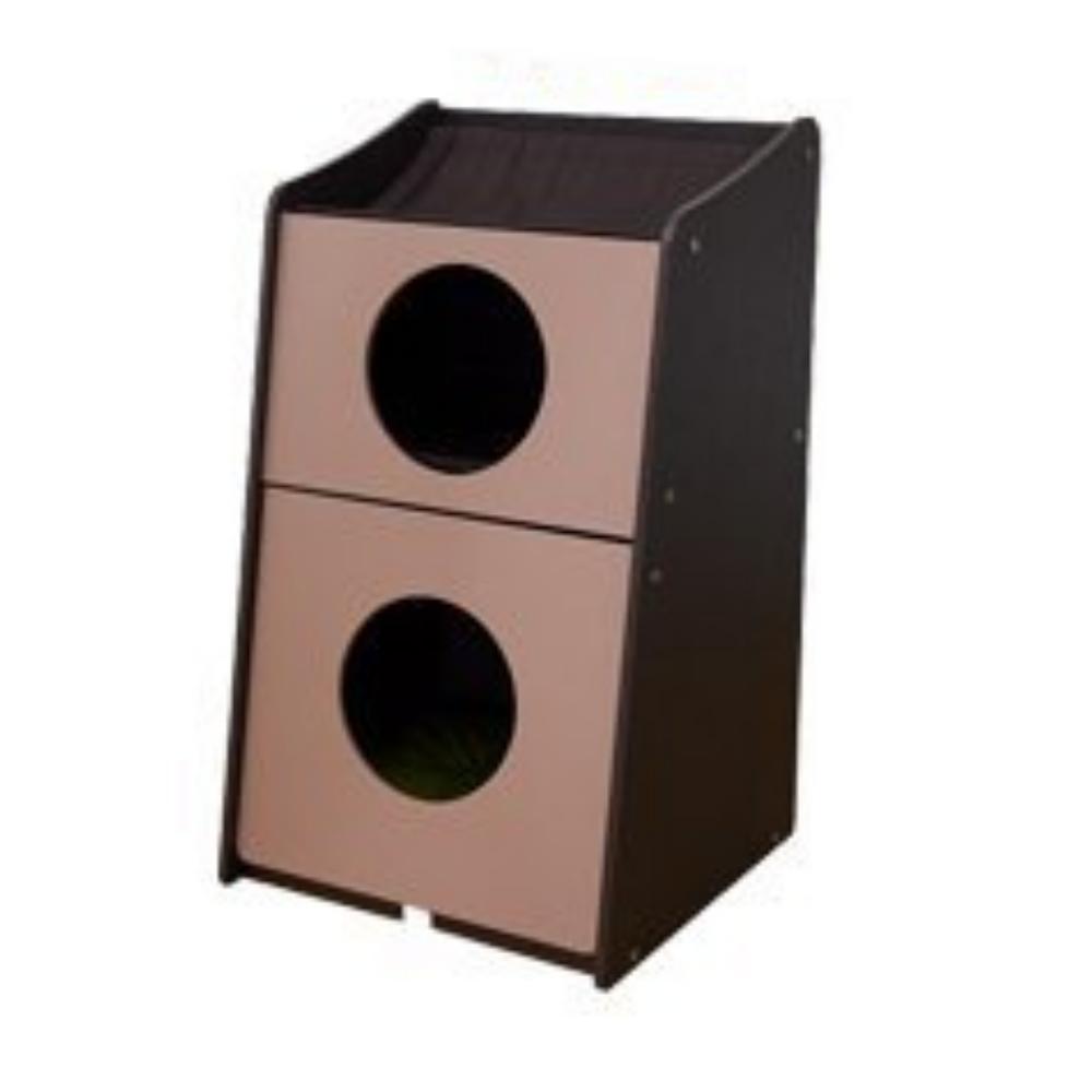 Bonbi 兩用系統雙層貓櫃 (附軟墊) 貓跳台