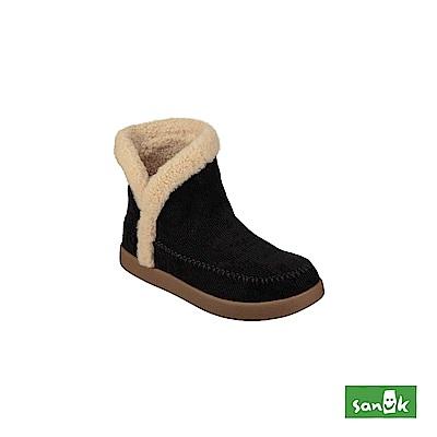 SANUK NICE BOOTAH CORDUROY 燈心絨中筒靴-女款(黑色)