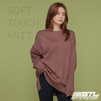STL yoga FINE KNIT SOFT TOUCH 韓國 氣質柔軟 長版長袖 針織衫上衣 乾燥玫瑰