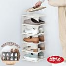 《闔樂泰》省空間隨意組可延伸鞋架2入組 (可放12雙鞋) 送日本製防蟲收納袋