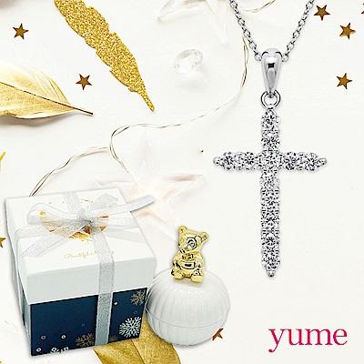 YUME 晶鑽十字項鍊(小熊耶誕禮盒)