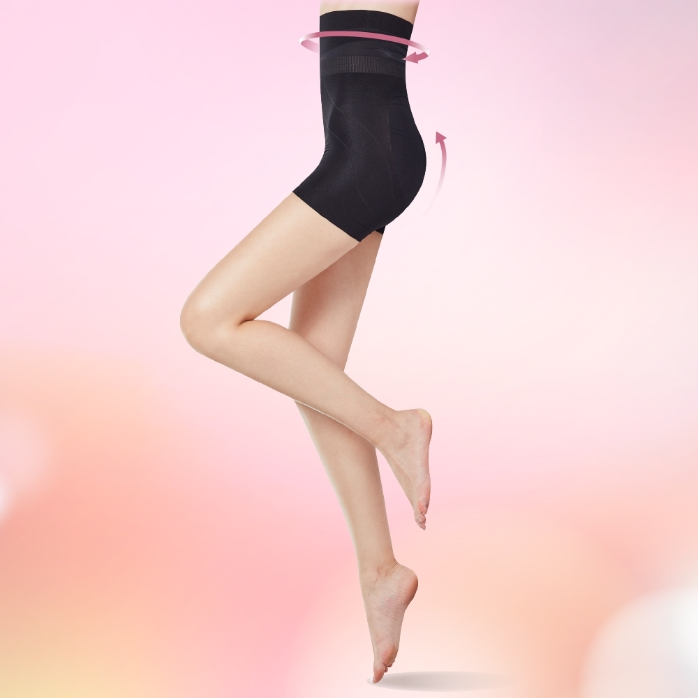 THECURVE 蔻麗芙 全速修身微整型一分褲超值2入組/經典黑