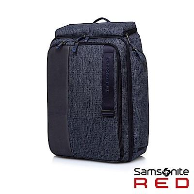 Samsonite RED ACTAEON 上開式多夾層筆電後背包15.6(麻藍)