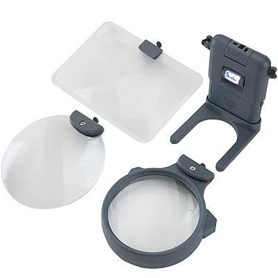CARSON 3in1 LED頸掛座式放大鏡