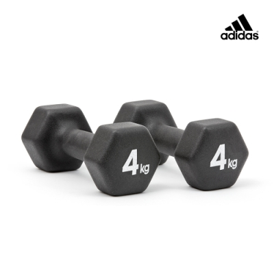 adidas愛迪達 六角訓練啞鈴(4kg)一對