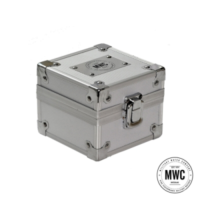 MWC瑞士軍錶 官方不鏽鋼收藏錶盒 單支裝 (銀色)