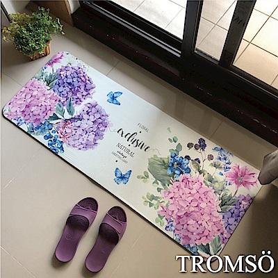 TROMSO廚房防油皮革地墊-K308繡球花語