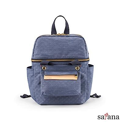 satana - Soldier 豐富日常可拆式後背包 - 夜影藍
