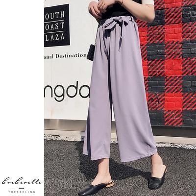 UGIZ(限時)-韓系收腰綁帶顯瘦造型寬褲--3色(M-2XL)